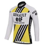 Long Sleeve Renault-Elf Retro Cycling Jersey (with Fleece Option)
