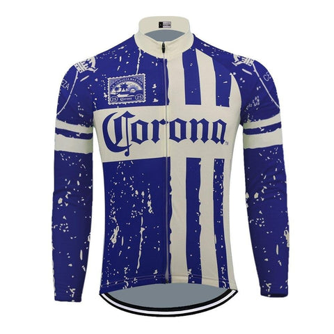 Corona Beer Retro Cycling Jersey (with Fleece Option)