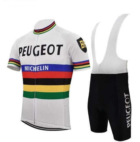 Peugeot BP Michelin Retro Cycling Jersey Set