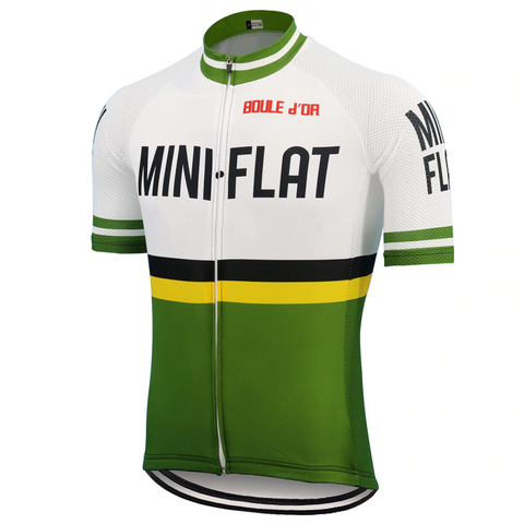 Mini Flat Retro Cycling Jersey