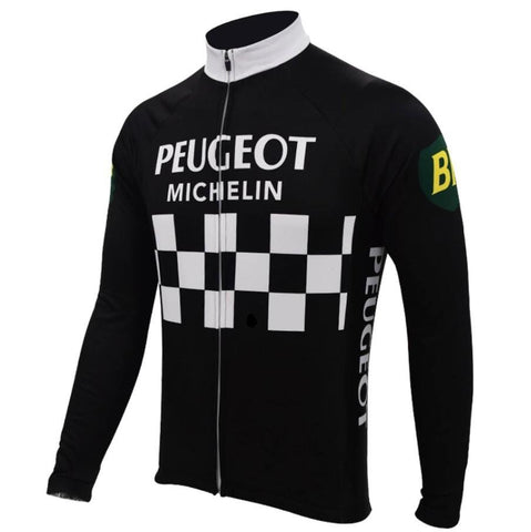 Peugeot BP Michelin Retro Cycling Jersey (with Fleece Option)