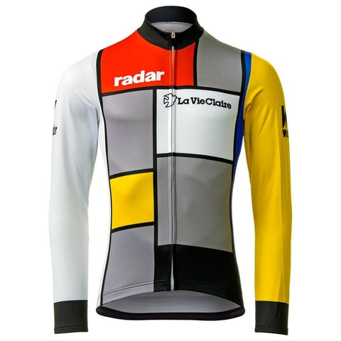 La Vie Claire Long Sleeve Retro Cycling Jersey