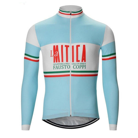 La Mitica Fausto Coppi Retro Cycling Jersey (with Fleece Option)