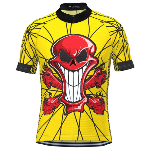 Yellow Smiling Skull Cycling Jersey