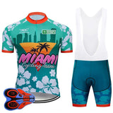 Miami Cycling Team Retro Cycling Jersey Set