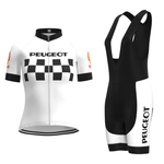 Women's 1960s Peugeot-Shell Retro Cycling Jersey Set