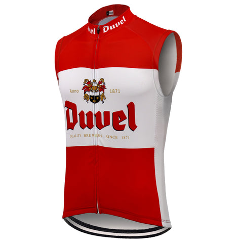Duvel Beer Red Retro Cycling Vest