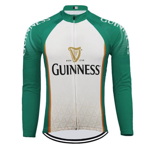 Long Sleeve Guinness Retro Cycling Jersey (with Fleece Option)
