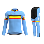 Women's Belgium Cycling Team Retro Cycling Jersey Long Set