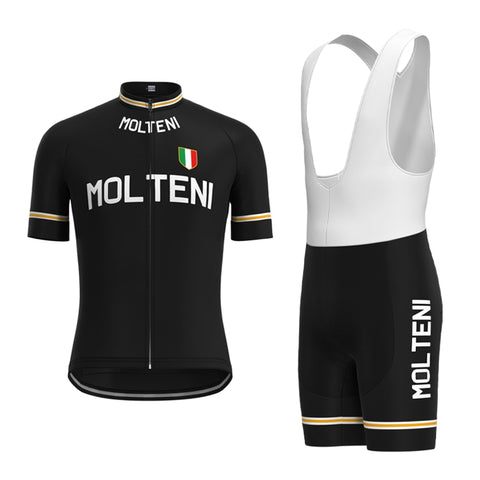 Molteni Black Retro Cycling Jersey Set