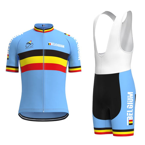 Belgium Cycling Team Retro Cycling Jersey Set