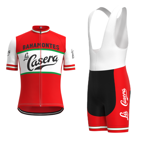 La Casera-Bahamontes Retro Cycling Jersey Set