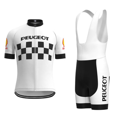 Classic 1960s Peugeot Retro Cycling Jersey Set