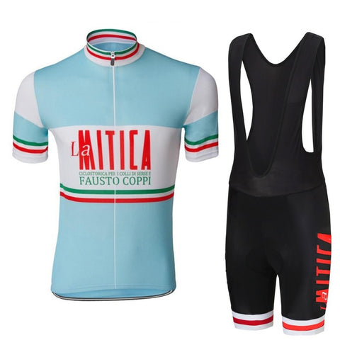 La Mitica Fausto Coppi Retro Cycling Jersey Set