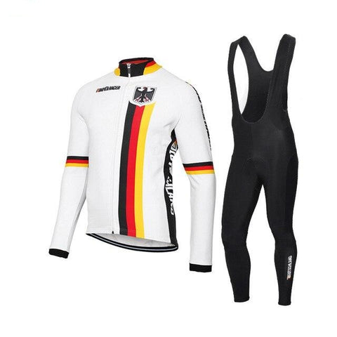 German Cycling Team Retro Cycling Long Set (with Fleece Option)
