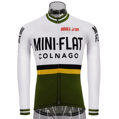 Mini Flat Colnago Retro Cycling Jersey (with Fleece Option)