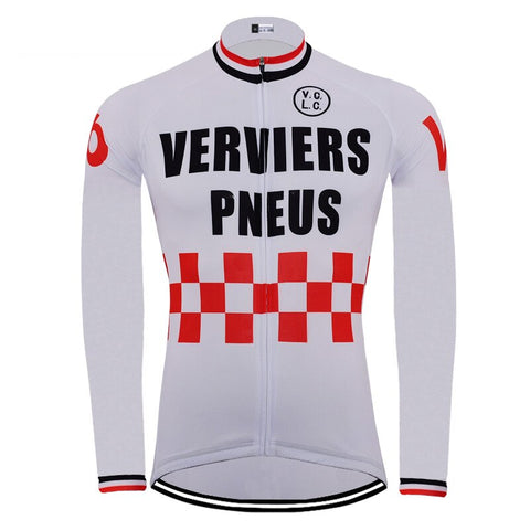 Verviers Pneus Retro Cycling Jersey (with Fleece Option)