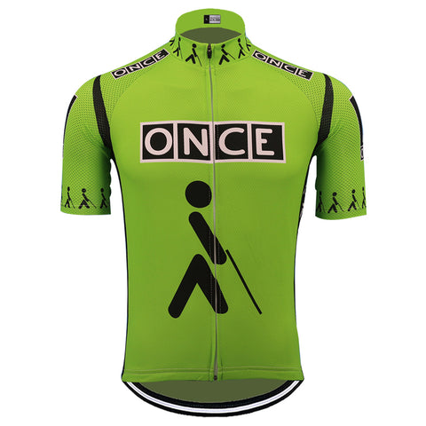 ONCE Green Retro Cycling Jersey