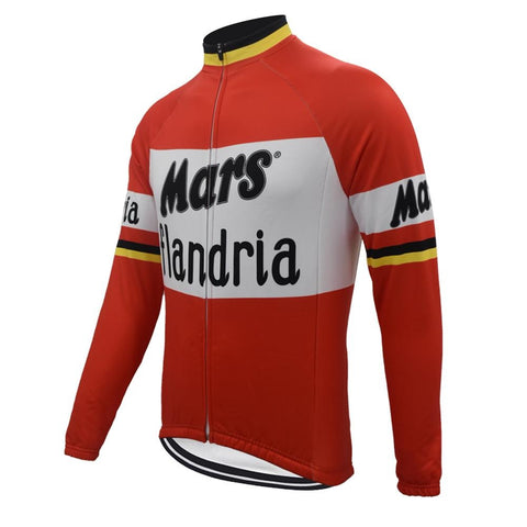 Mars Flandria Retro Cycling Jersey (with Fleece Option)