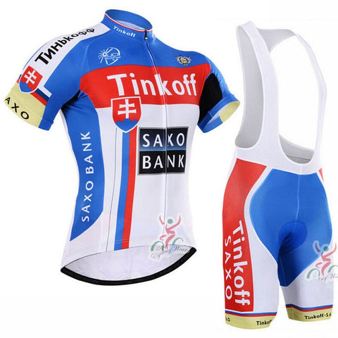 Tinkoff Saxo Bank Blue Red Jersey Set