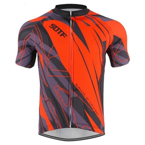 Red Pattern Cycling Jersey