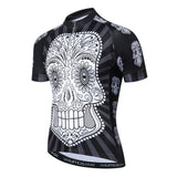 White Skull with Black Body Cycling Jersey