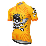 Yellow Pirate Skull Cycling Jersey