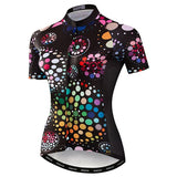 Women's Coloured Dots Cycling Jersey