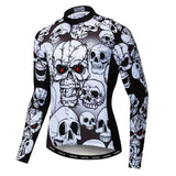 Red Eye Skull Long Sleeve Cycling Jersey
