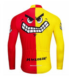 Red & Yellow Grinning Face Cycling Jersey
