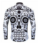 Bike Parts Skull Long Sleeve Cycling Jersey