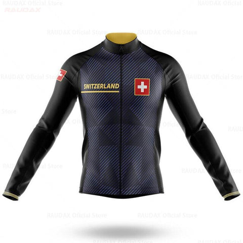 Switzerland Long Sleeve Cycling Jersey