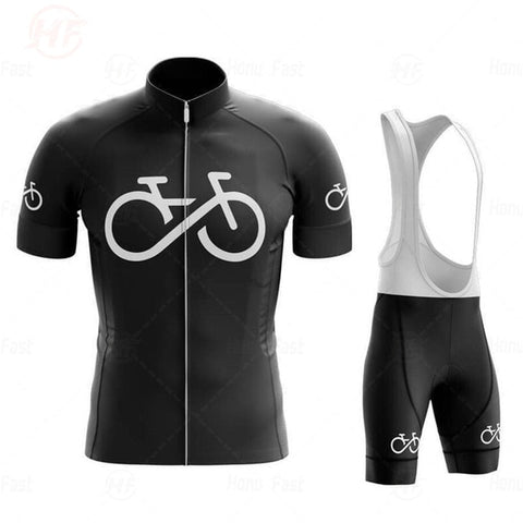 Bike Logo Black Cycling Jersey Set