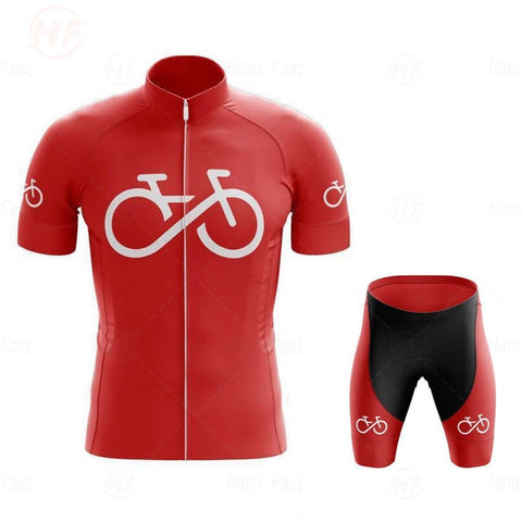Bike Logo Red Cycling Jersey Set
