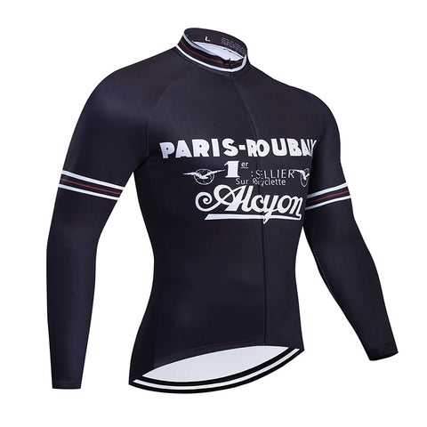 Paris-Roubaix Retro Cycling Jersey Long Set (With Fleece Option)