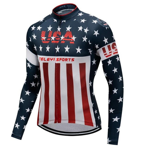 USA Stars and Stripes Cycling Jersey