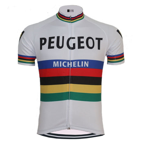 Peugeot BP Michelin Retro Cycling Jersey