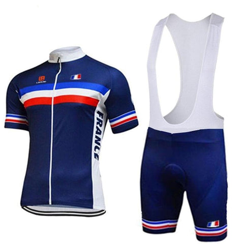 French Team Cycling Jersey Set