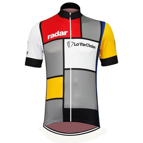 La Vie Claire Short Sleeve Retro Cycling Jersey