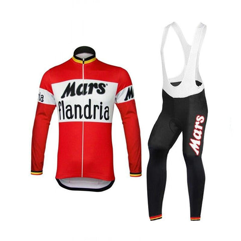Mars Flandria Retro Cycling Long Set