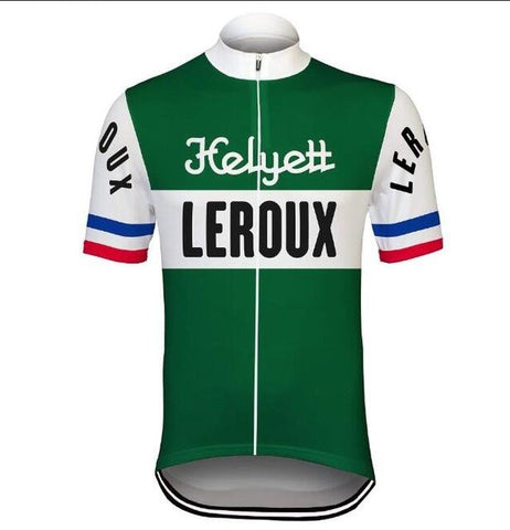 Helyett Leroux Retro Cycling Jersey Set