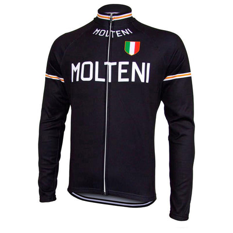 Molteni Arcore Retro Cycling Jersey with Fleece Option