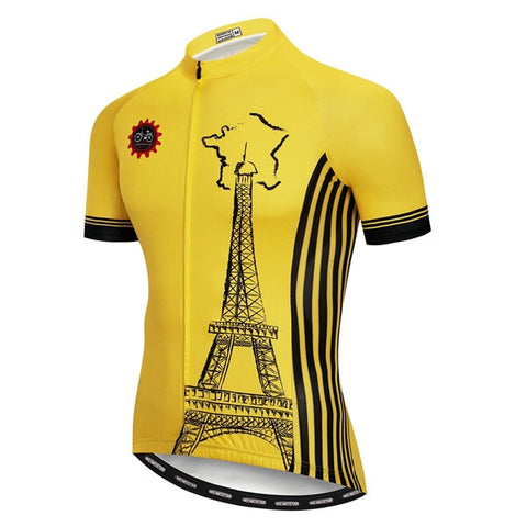 Eiffel Tower Yellow Cycling Jersey