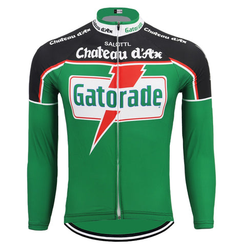 Chateau d'Ax Gatorade Retro Cycling Jersey (with Fleece Option)