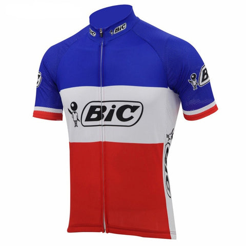 BIC France Short Sleeve Retro Cycling Jersey