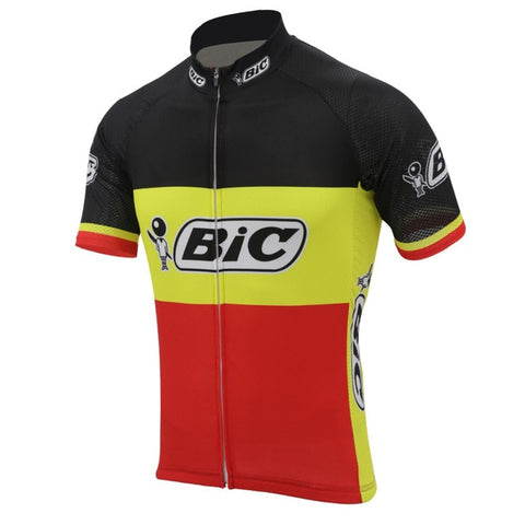 BIC Belgium Short Sleeve Retro Cycling Jersey