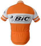 BIC Orange Short Sleeve Retro Cycling Jersey