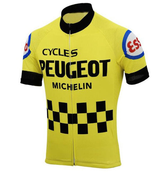 Retro Team PEUGEOT Vintage Cycling Jersey cycling Short Sleeve Jersey