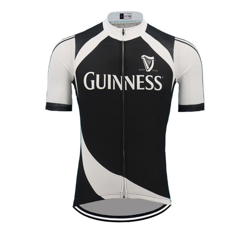 Guinness Retro Cycling Jersey Black
