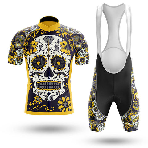 Yellow Skull Cycling Jersey Set